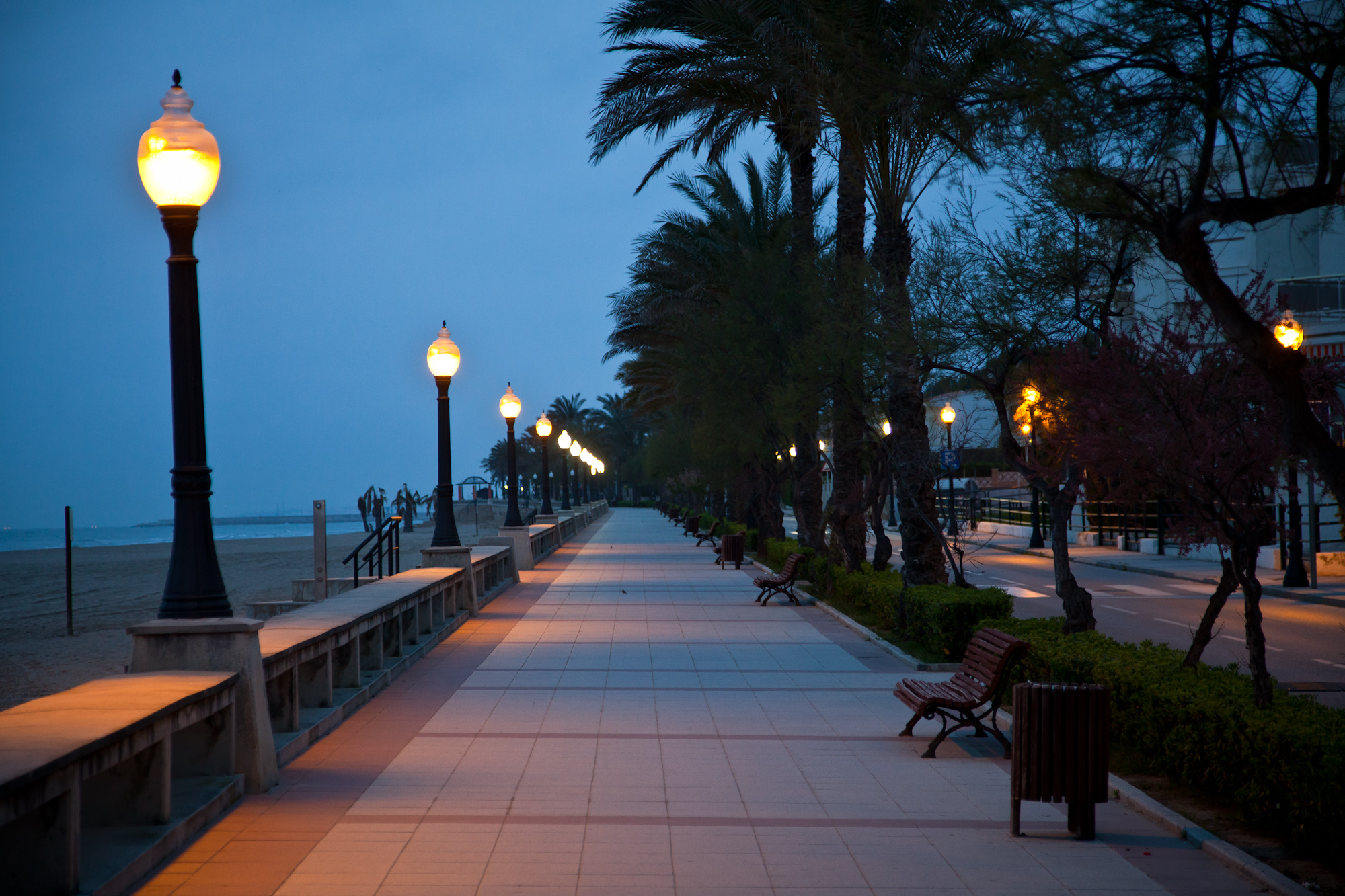 Workdays were long while in Spain, but evenings I was able to get out and stroll the Promenade at Coma Ruga.  A nice way to end the day.