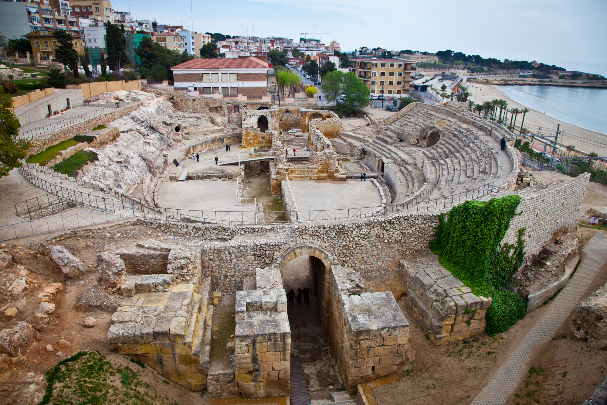 The Amfiteatre Roma in Taragona Spain... the ruins are about 2000 years old.