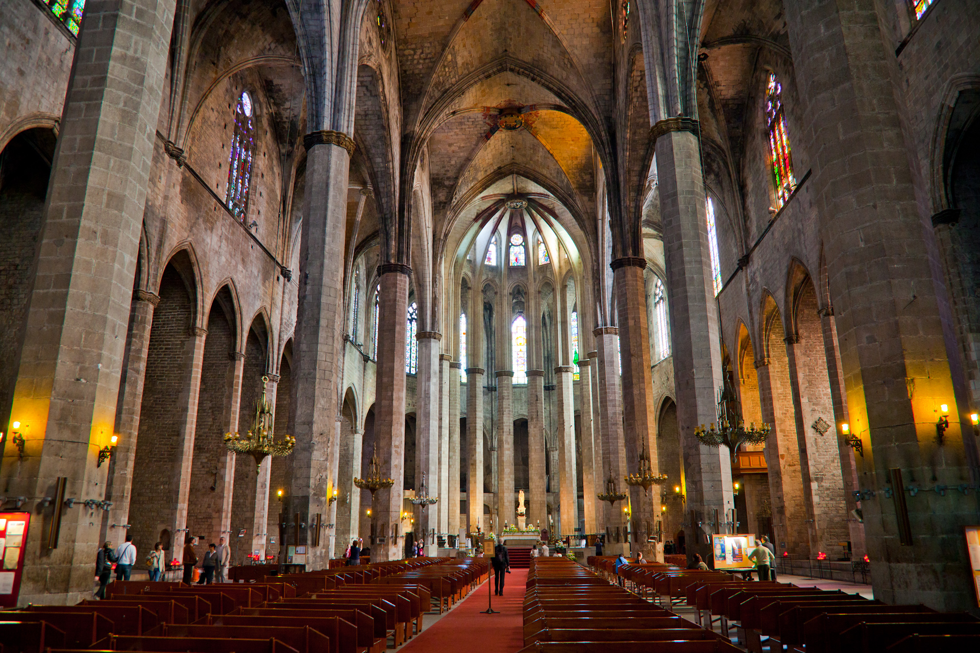 Inside the Cathedral Santa Maria del Mar.  It's one of the most beautiful cathedrals I've ever seen.