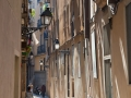 The narrow streets in Barcelona (Gothic section)