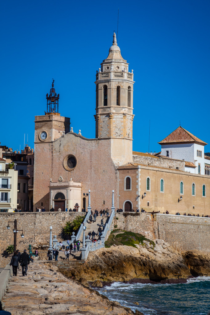The Church of Sant Bartomeu in central Sitges.